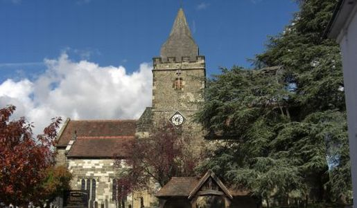 Central Midhurst, featuring the church