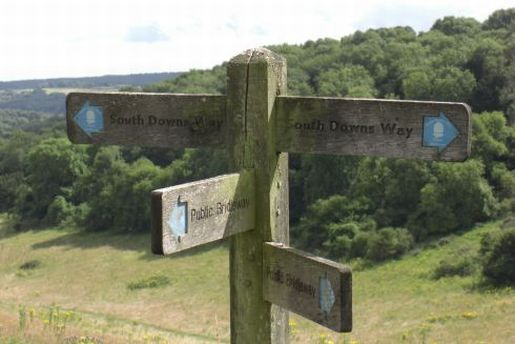 Which way now?  Bridleway signposts on the South Downs Way