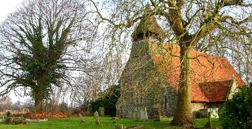 Picture of St Mary's Church at Apuldram, south of Fishbourne near Chichester