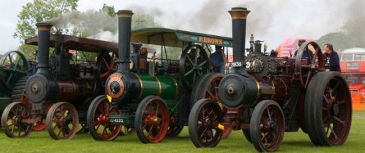 picture of the steam engines at the Ardingly Vintage Vehicle Show