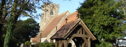 picture of the St Mary's Church in Felpham in West Sussex.