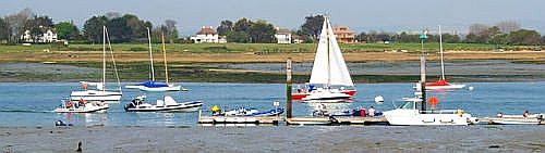 Picture of sailing on Chichester Harbour near Itchenor - a popular place for yachtsment and dinghy sailors alike