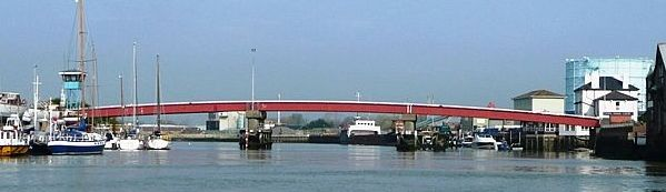 picture of the River Arun at Littlehampton in West Sussex.