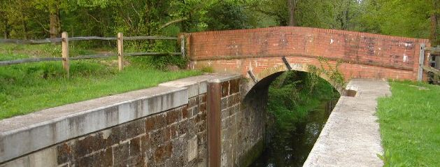Picture of Devil's Hole Lock on the Wey and Arun Canal west of Loxwood, West Sussex