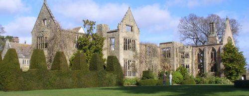 picture of the Nymans in Sussex showing the ruins of the House