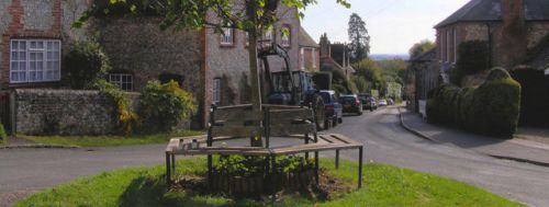 picture of Church Hill, Slindon in West Sussex.